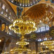 Mosaic interior in Hagia Sophia at Istanbul Turkey - Foto de Stock  