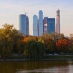 gratte-ciel moderne à la ville de Moscou Russie — Photo #13442947