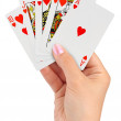 Playing cards in hand — Stock Photo #13479438