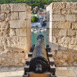 Retro cannon at Dubrovnik, Croatia — Stock Photo