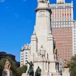 Don Quixote and Sancho Panza statue - Madrid Spain — Stock Photo #13562502