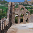 Stock Photo: Aqueduct at Aspendos in AntalyTurkey