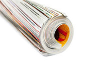 Roll of magazine — Stock Photo