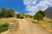 Pathway to Mycenae ruins, Greece — Stock Photo