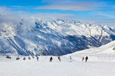 Mountain ski resort Hochgurgl Austria — Stock Photo