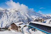Mountain ski resort hochgurgl rakousko — Stock fotografie