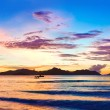 Island Praslin at sunset — Stock Photo