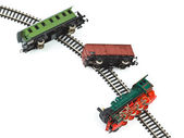 Crash toy train — Stock Photo