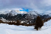 Góra ośrodka narciarskiego sölden austria — Zdjęcie stockowe