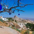 Tree and evil eye amulet in Cappadocia Turkey - Stock Photo