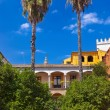 Real Alcazar Gardens in Seville Spain - Stock Photo