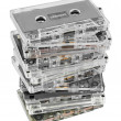 Stack of audio cassettes — Stock Photo