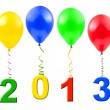 Royalty-Free Stock Photo: Balloons and 2013