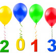 Balloons and 2013 — Stock Photo