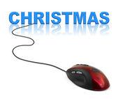 Computer-maus und weihnachten — Stockfoto