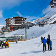 Mountain ski resort Obergurgl Austria - Stock Photo