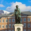 Mozart statue in Salzburg Austria — Stock Photo