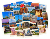 Stack of Istanbul Turkey travel images — Stock Photo