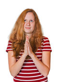 Praying girl — Stock Photo