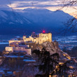 Salzburg and castle Hohensalzburg at sunset - Austria — Stock Photo #14101603