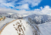 Mountains ski resort Solden Austria — Stok fotoğraf