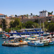 Old harbour in Antalya, Turkey — Stock Photo