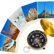 Turkey travel photography on clothespins — Stock Photo