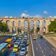 Car traffic at Istanbul Turkey - Stock Photo