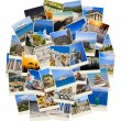 Stack of Greece travel photos — Stockfoto