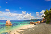 Beach Source d'Argent at Seychelles — Stockfoto