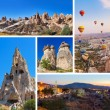 Collage of Cappadocia Turkey images — Stock Photo