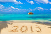Numbers 2013 on beach — Stock Photo