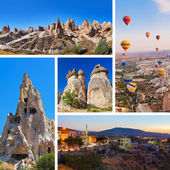 Collage of Cappadocia Turkey images — Stok fotoğraf