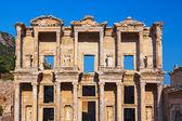 Antiga biblioteca celsius na turquia de éfeso — Foto Stock