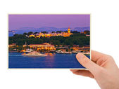 Istanbul Turkey photography in hand — Stock Photo