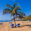 Beach Teresitas in Tenerife - Canary Islands - Stock Photo