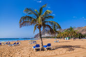 Beach Teresitas in Tenerife - Canary Islands — Stock Photo