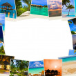 Frame made of summer beach maldives images - Stock Photo