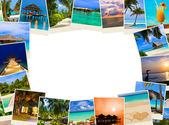 Frame made of summer beach maldives images — Stock Photo