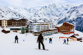 Berge-skigebiet solden österreich — Stockfoto