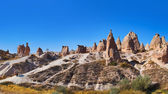 Panorama of Camel rock at Cappadocia Turkey — Stock Photo