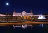 Palace at Spanish Square in Sevilla Spain — Stock Photo