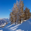 Mountains ski resort St. Gilgen Austria - Stock Photo