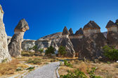 Fairy chimneys (rock formations) at Cappadocia Turkey — Photo
