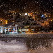 Mountains ski resort Solden Austria at night — Stock Photo