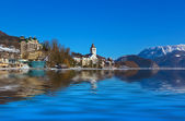 Village St Wolfgang on the lake Wolfgangsee - Austria — Stock Photo