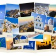 Stack of Santorini photos — Stock Photo