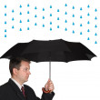 Men and umbrella — Stock Photo
