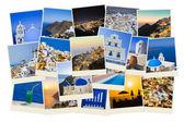 Stack of Santorini photos — Stock Photo