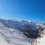 Suspension bridge at mountains ski resort Bad Gastein - Austria — Stock Photo